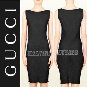 GUCCI COCKTAIL DRESS 👗 BLACK BODYCON SLEEVELESS